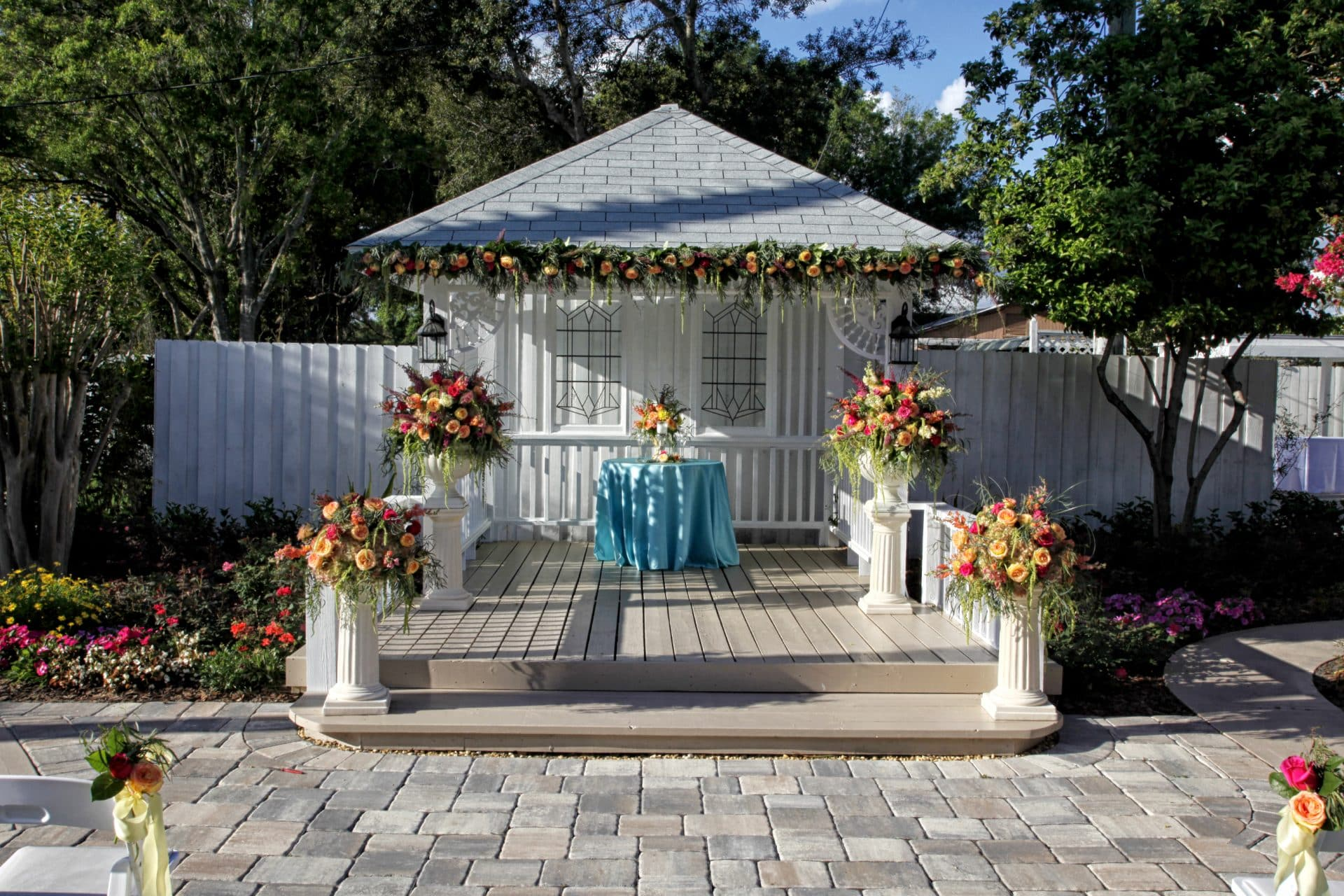 Quaint and romantic ceremony space at Celebration Gardens