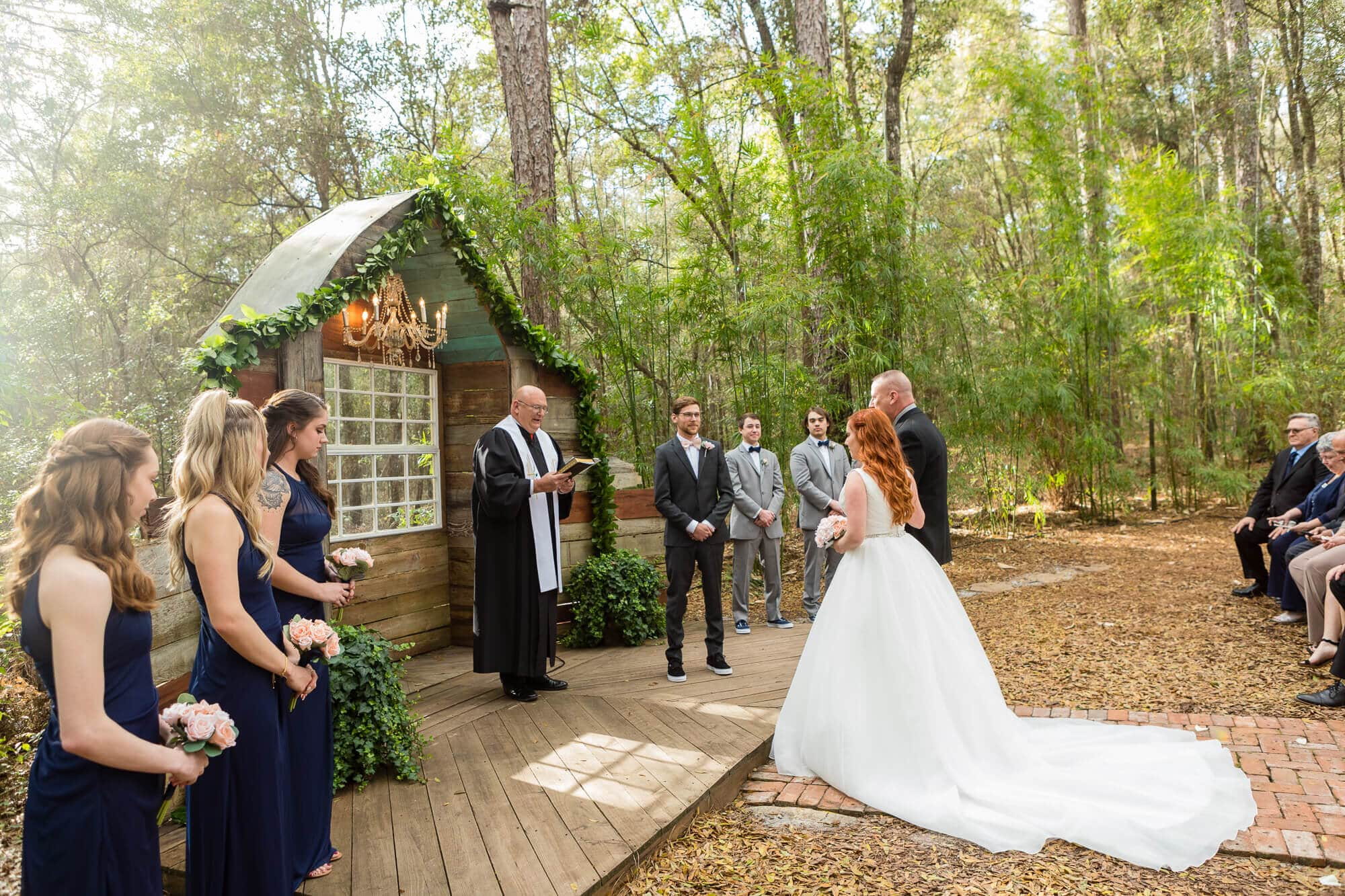 Lori Barbely Photography, wedding ceremony outside in the woods
