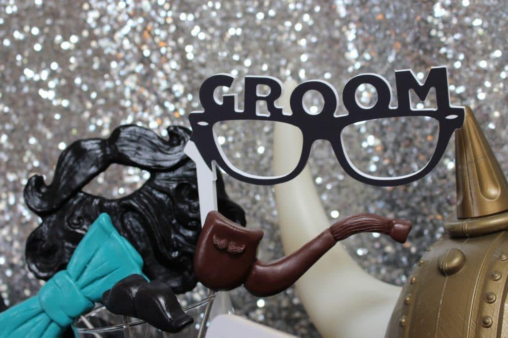 Party Shots Orlando - groom photo booth prop display