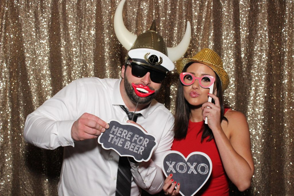 Party Shots Orlando - couple with funny props