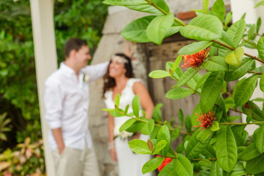 Steven Miller Photography - bride and groom in blurry background