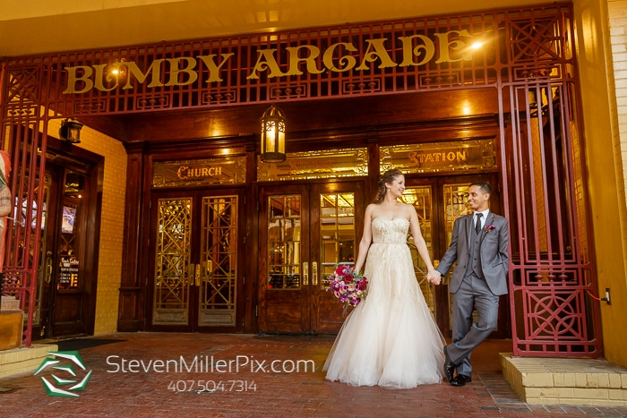 Steven Miller Photography - bride and groom outside Church Street Station