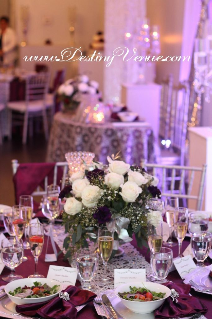 Destiny Event Venue - gorgeous tablescape set up for dinner