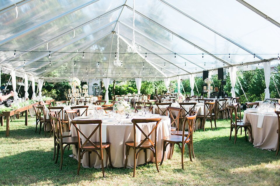 Orlando Wedding & Party Rentals - large transparent tent for outdoor wedding