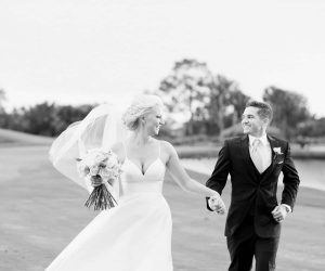 Bumby Photography - bride and groom on golf course