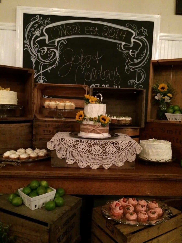 Rocking H Ranch - chalkboard sign at dessert table