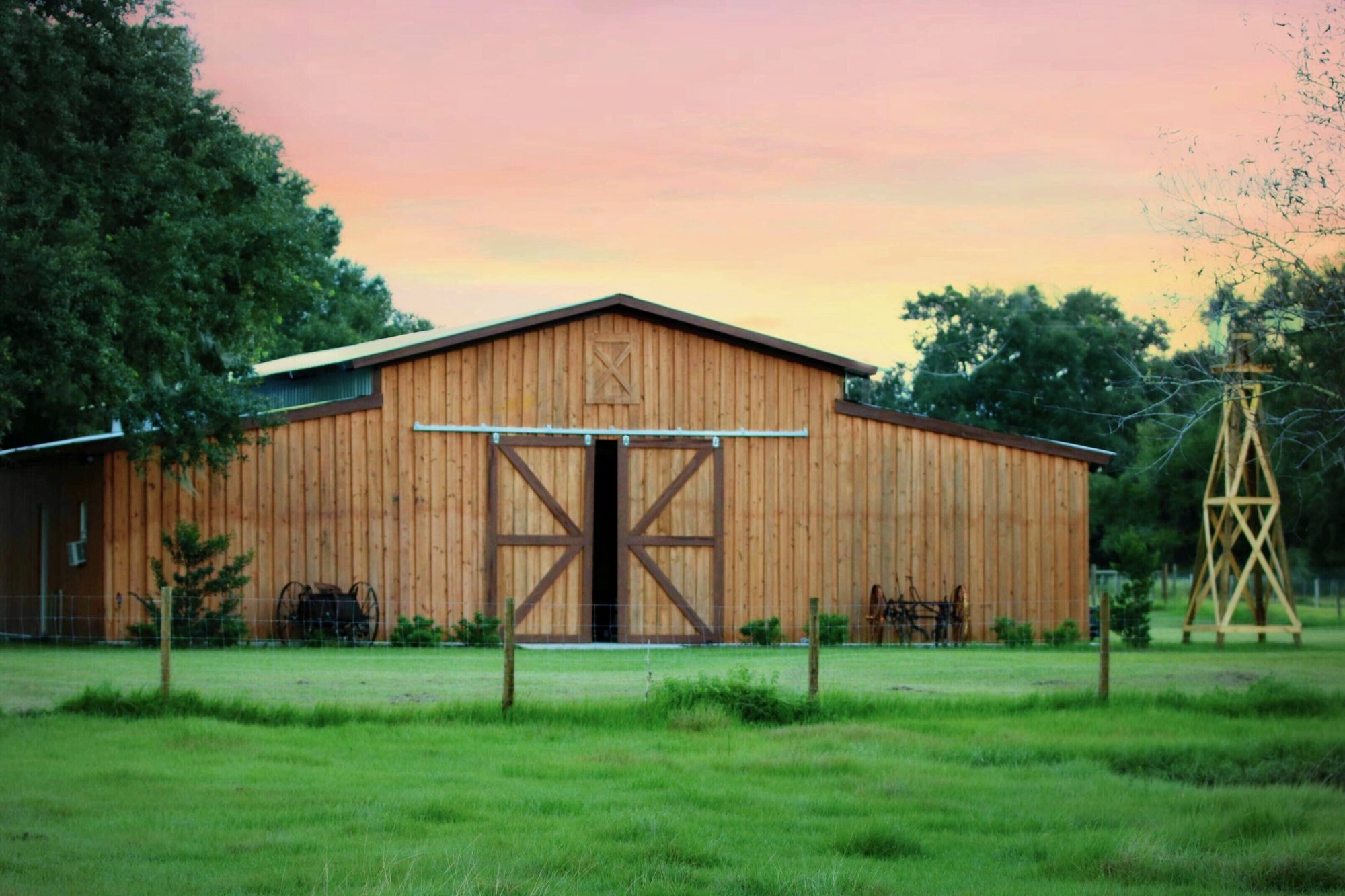 The Barn at Lazy P Ranch - wooden barn wedding venue