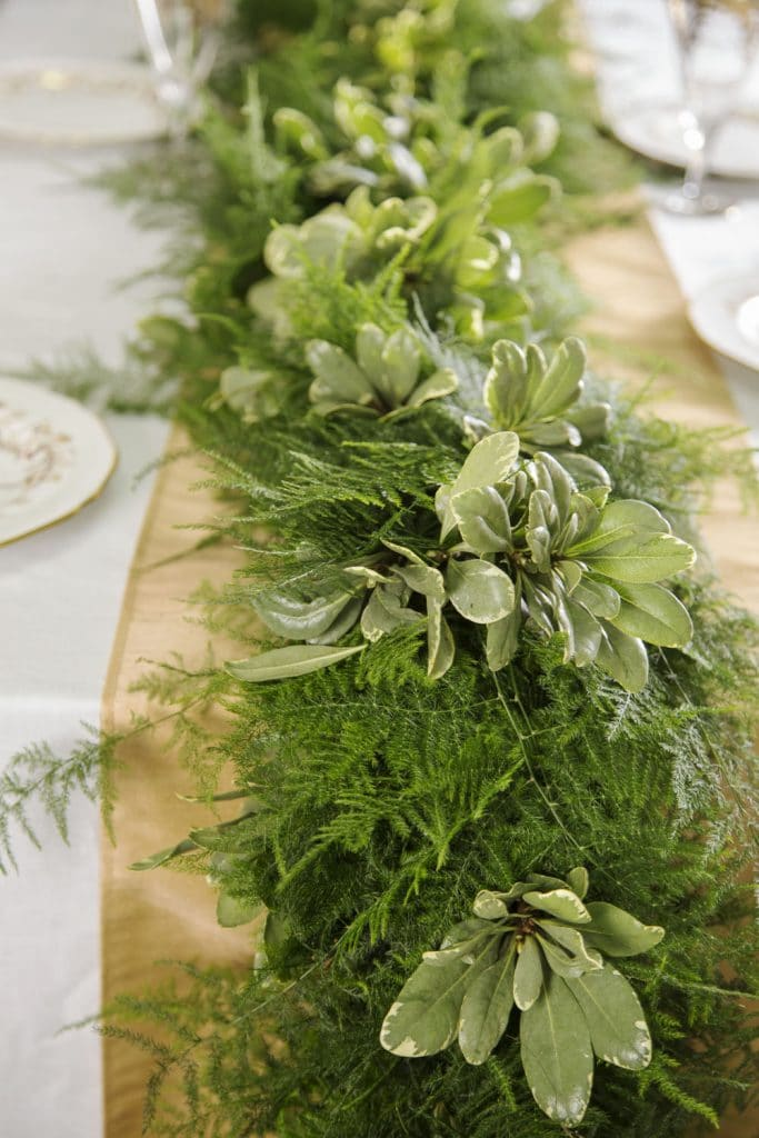 The Magnolia Company - loose greenery as table runner