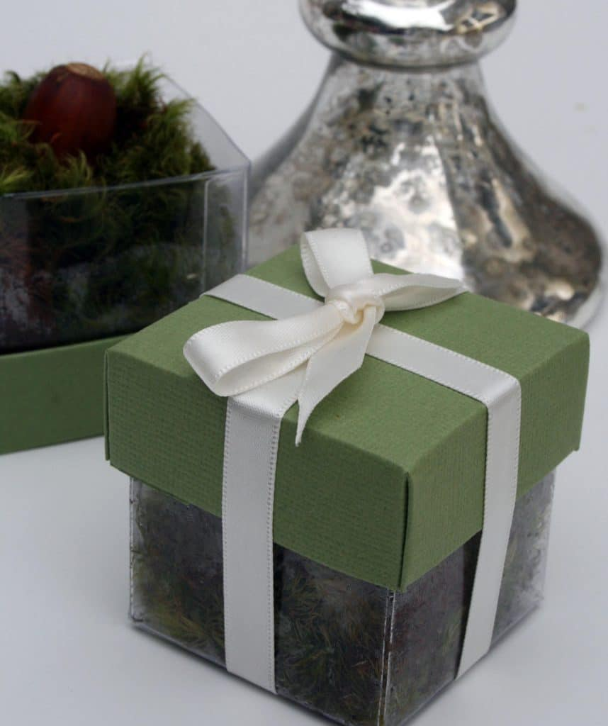 The Magnolia Company - cute wrapped box for wedding favors