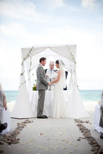 Jewish wedding ceremony under the chuppah