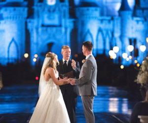 Sensational Ceremonies - wedding ceremony in front of Sleeping Beauty's castle