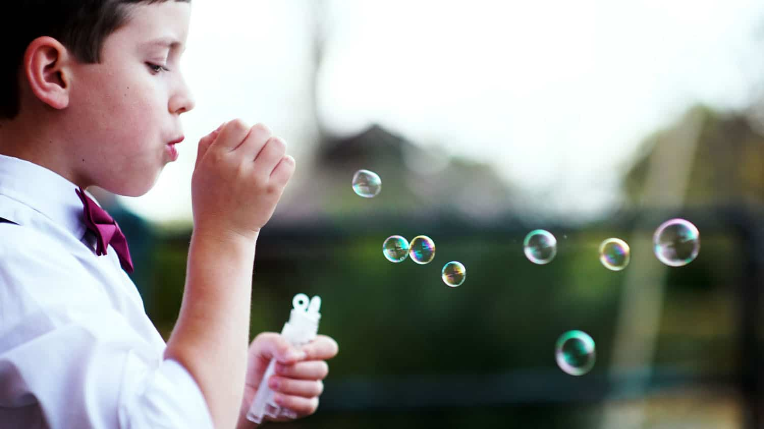 Tootles Event Sitters - boy blowing bubbles