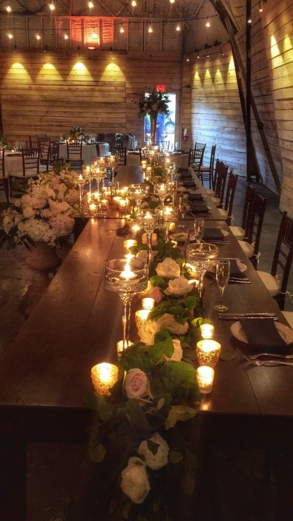1010-West-Candles on table for centerpieces