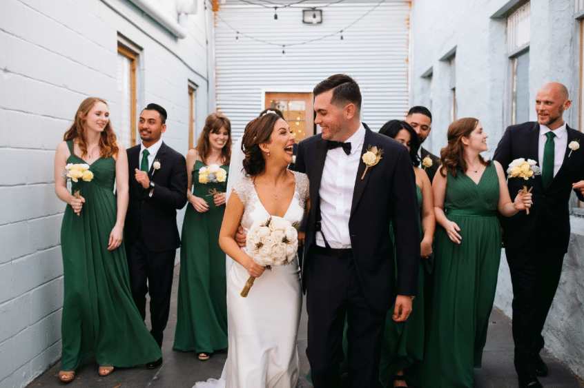 1010-West-Bridal Party in alley way