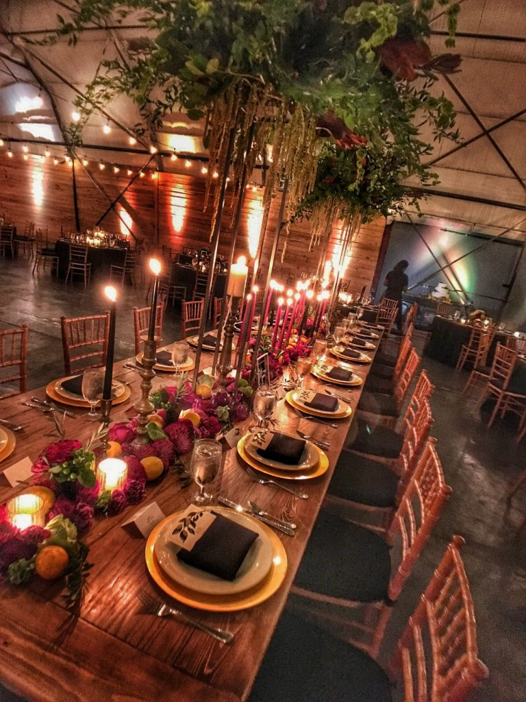 1010-West-Large table setting with tall candles