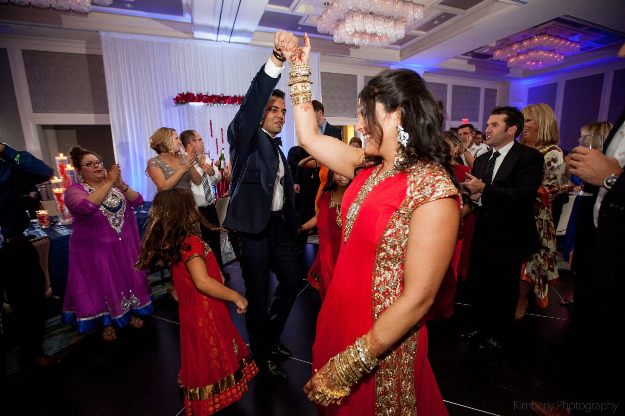 White Rose Entertainment - bride and groom dancing at Indian wedding