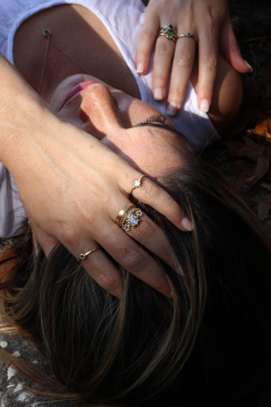 Sandy Rubin Jewelry - unique and stunning rings on woman's hand