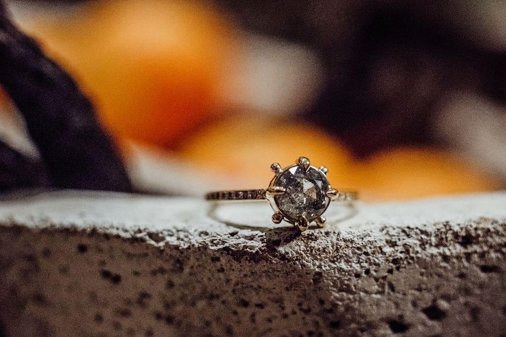 Sandy Rubin Jewelry - solitaire diamond ring in unique setting