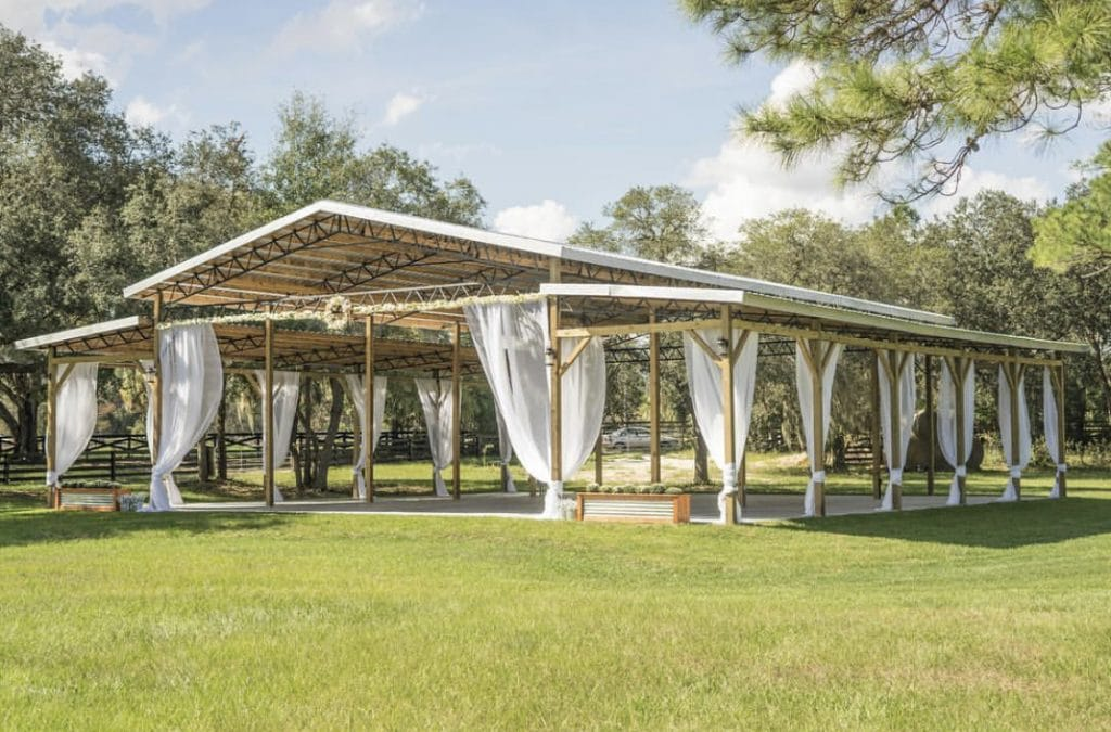 The-Farmhouse-on-44-Outdoor venue pavilion with white swags