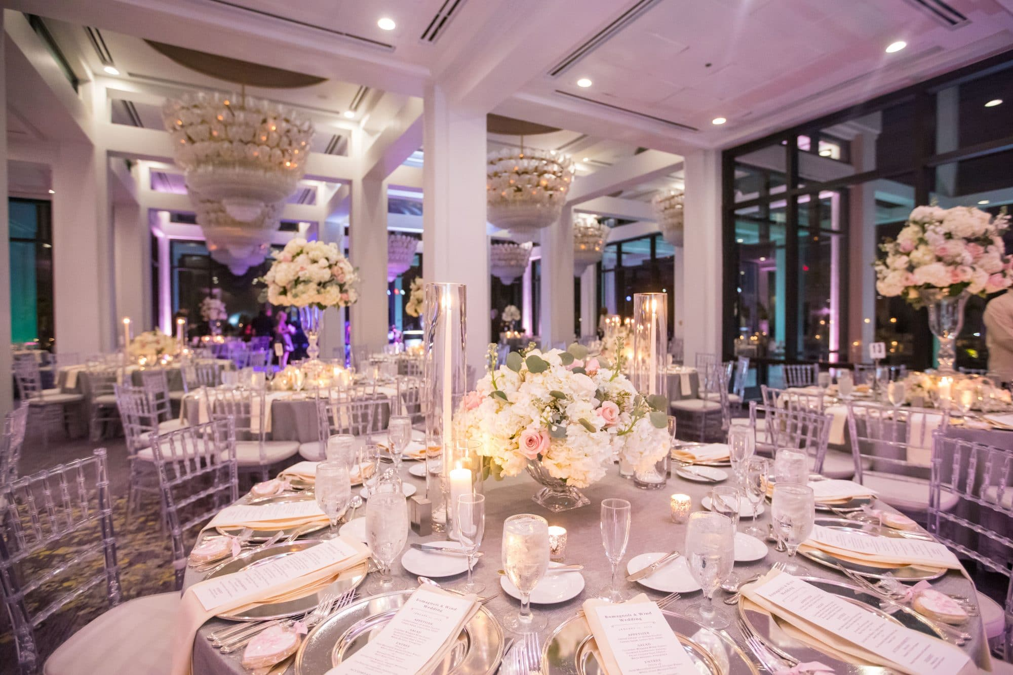 KMD Creations Photography and Film - all-white wedding reception