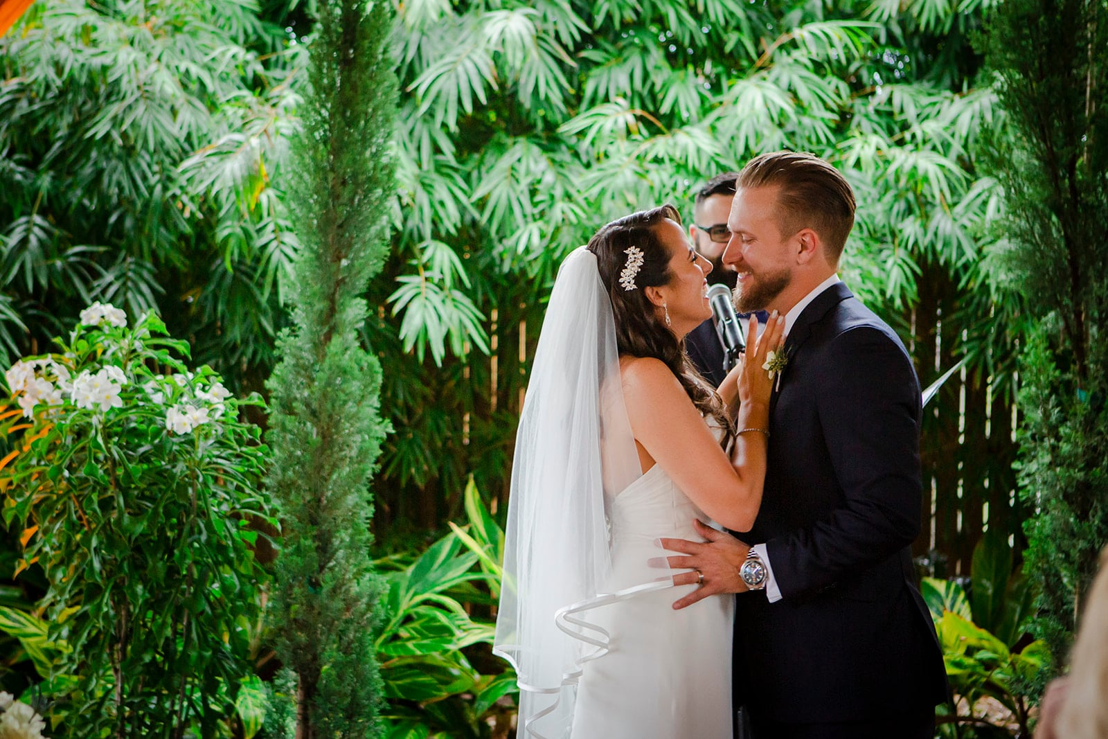 Rockledge Gardens - tropical wedding ceremony among lush greenery