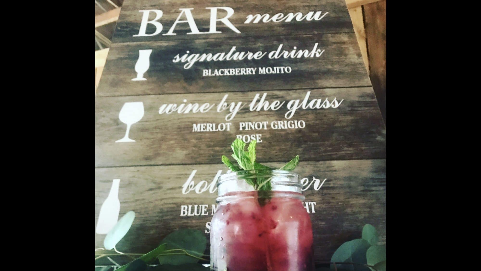 Bar-tini Orlando - customized rustic bar menu