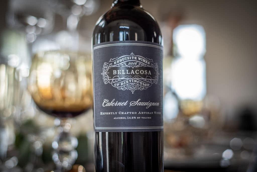 Bella-Cosa-Lakeside-Custom print wine label on wine bottle