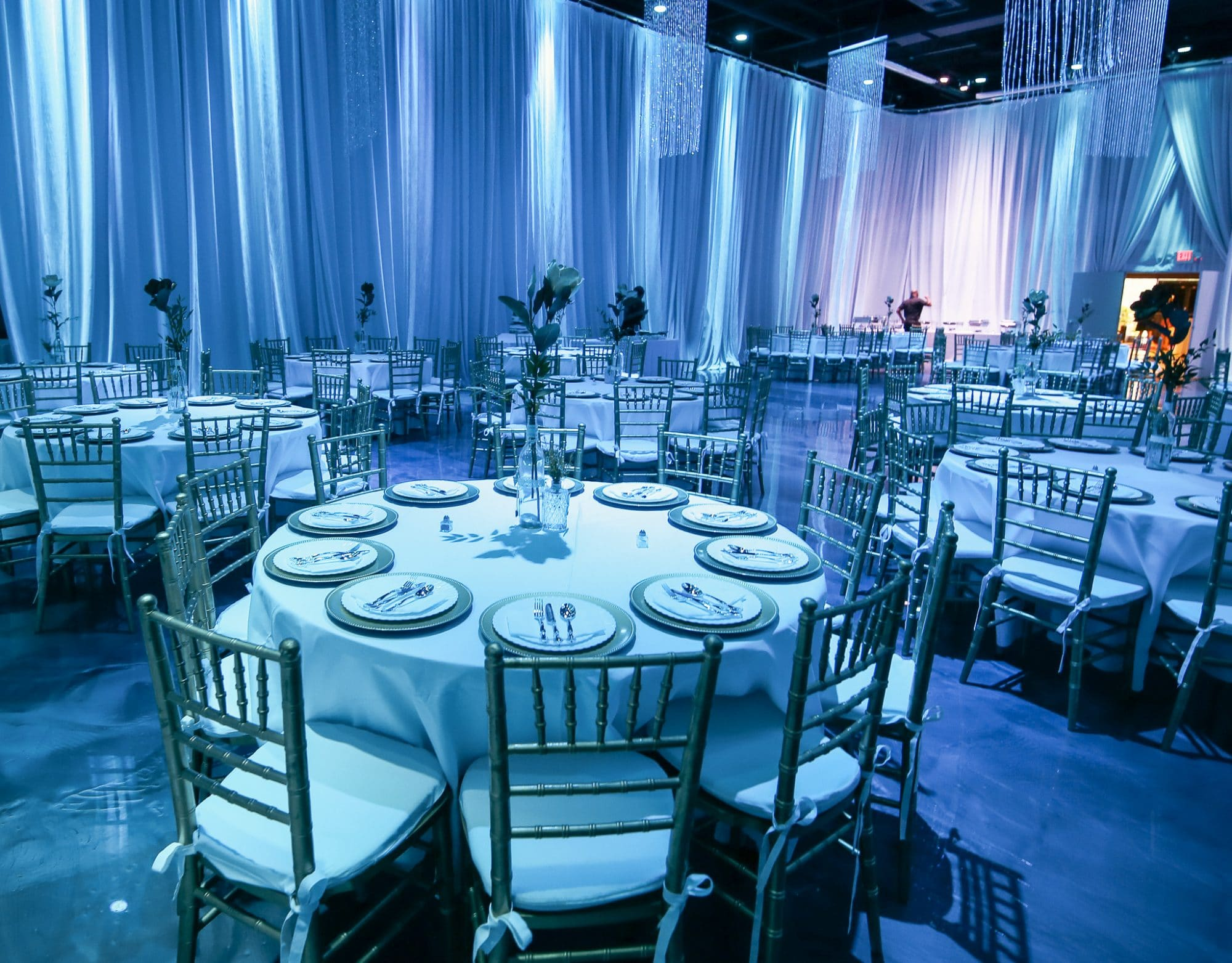 Live Love Laugh Events - amazing white and silver wedding reception space