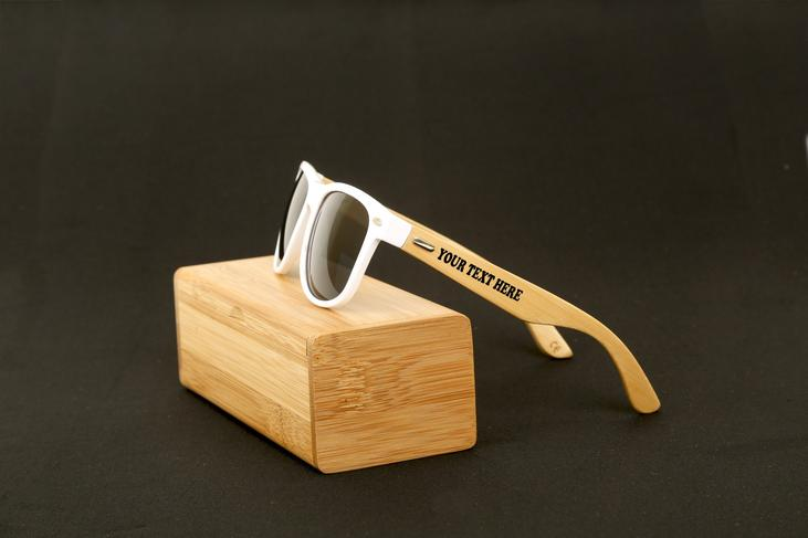 groomsmen gift idea - customized wooden sunglasses