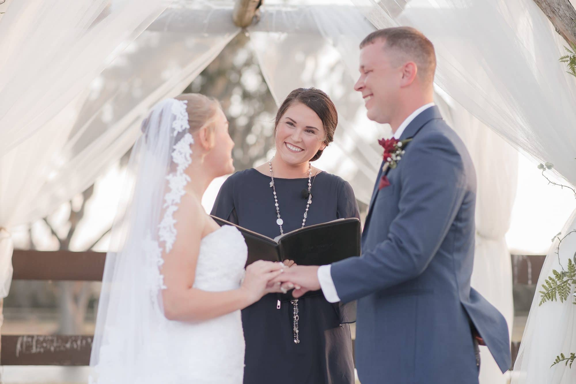 Rustic chic outdoor wedding ceremony for Brittany and Todd