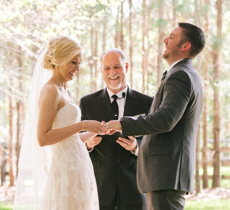 A Beautiful Ceremony - Kevin Knox officiating a beautiful wedding ceremony
