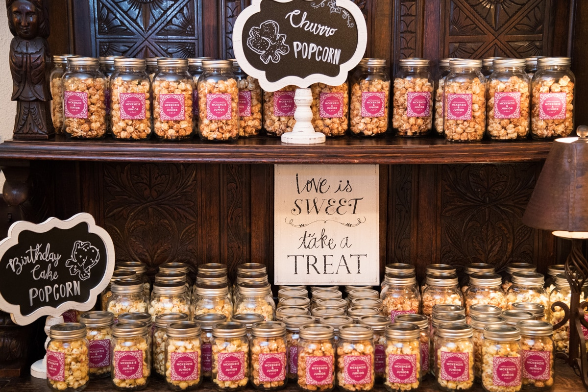 As You Wish - popcorn favors in jars at wedding