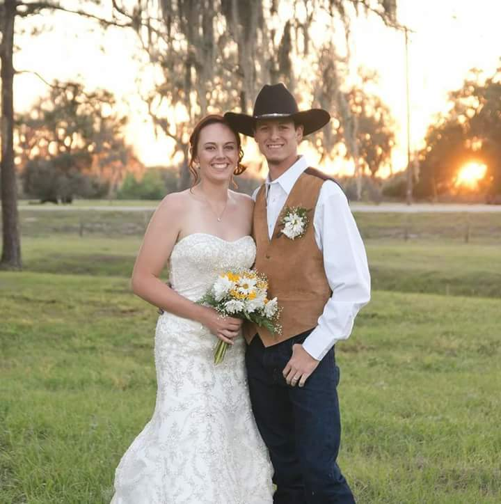 TrueHeart Ranch - bride and groom in cute country wedding