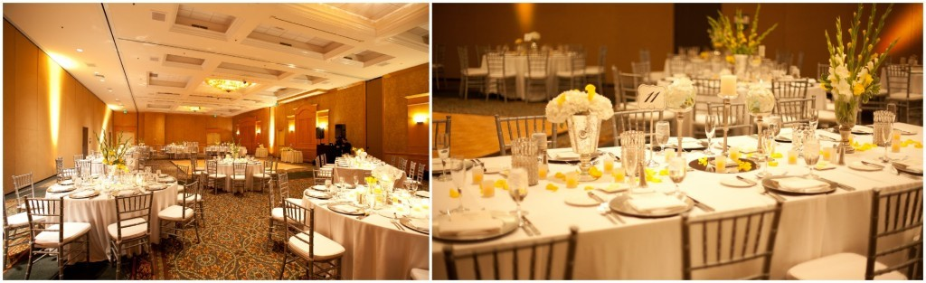 Hyatt-Regency-Orlando-Intnl-Airport- Side by side of table settings with lighter lights set up