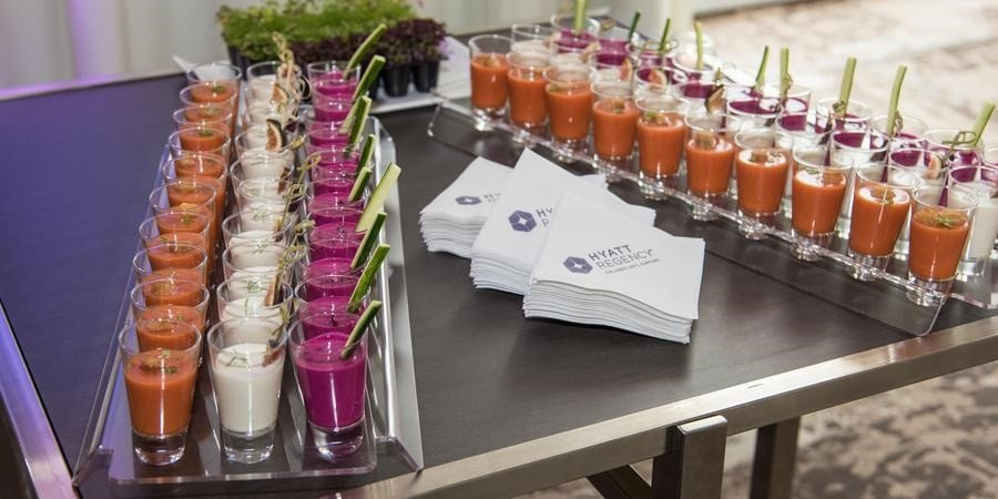 Hyatt-Regency-Orlando-Intnl-Airport-Cocktail shots and soup shots for catering