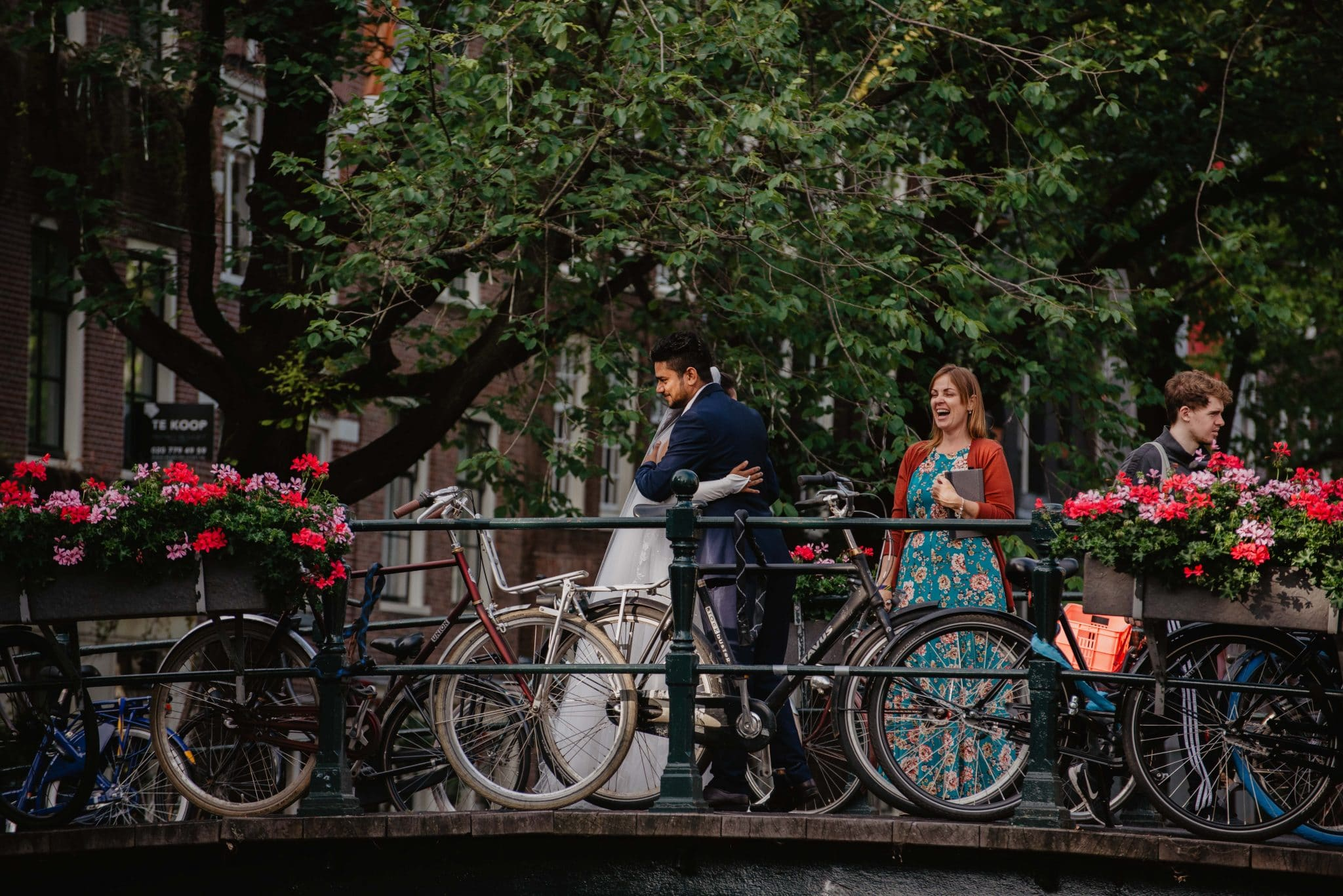 Ceremonies By Catherine - wedding ceremony on bike-lined bridge