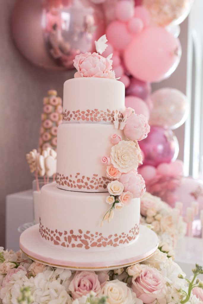 The Cake Studio - playful yet elegant pink cake