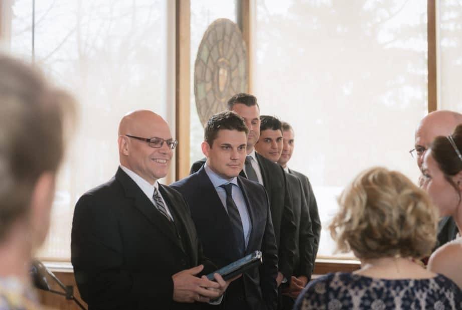 Pastor-Mike-Weddings-Pastor Mike standing with groomsmen.