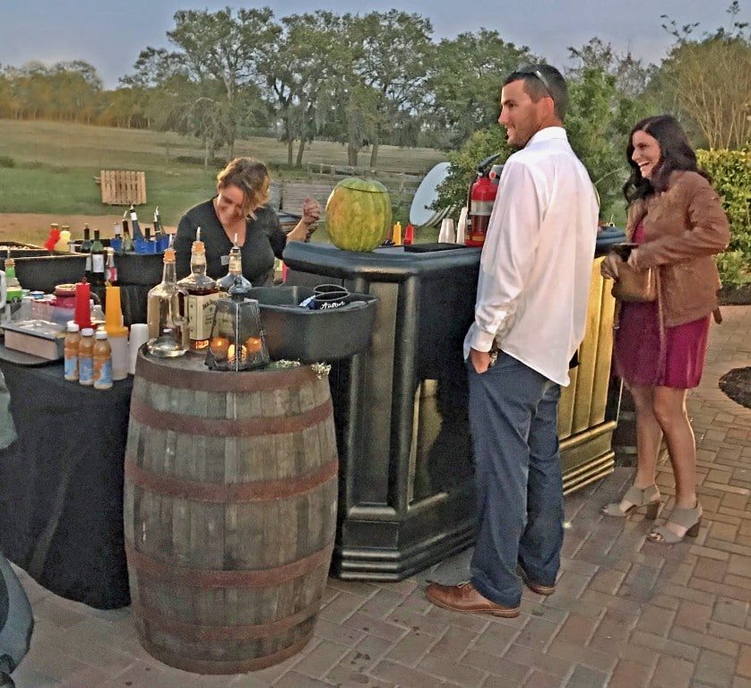 Beck-N-Call-Bartenders-Guests standing at bar