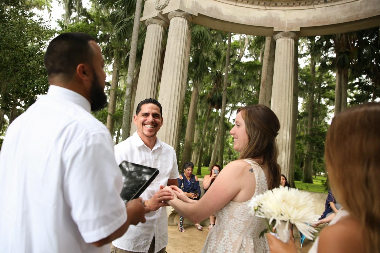 micro wedding outside