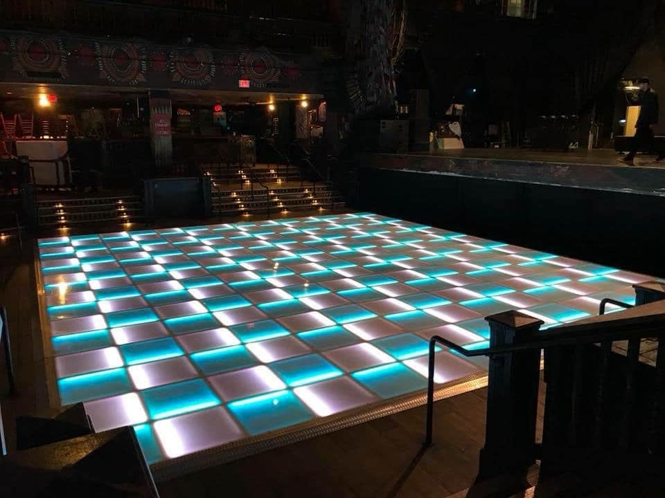 Letz Dance On It - two color checkered light up wedding dance floor