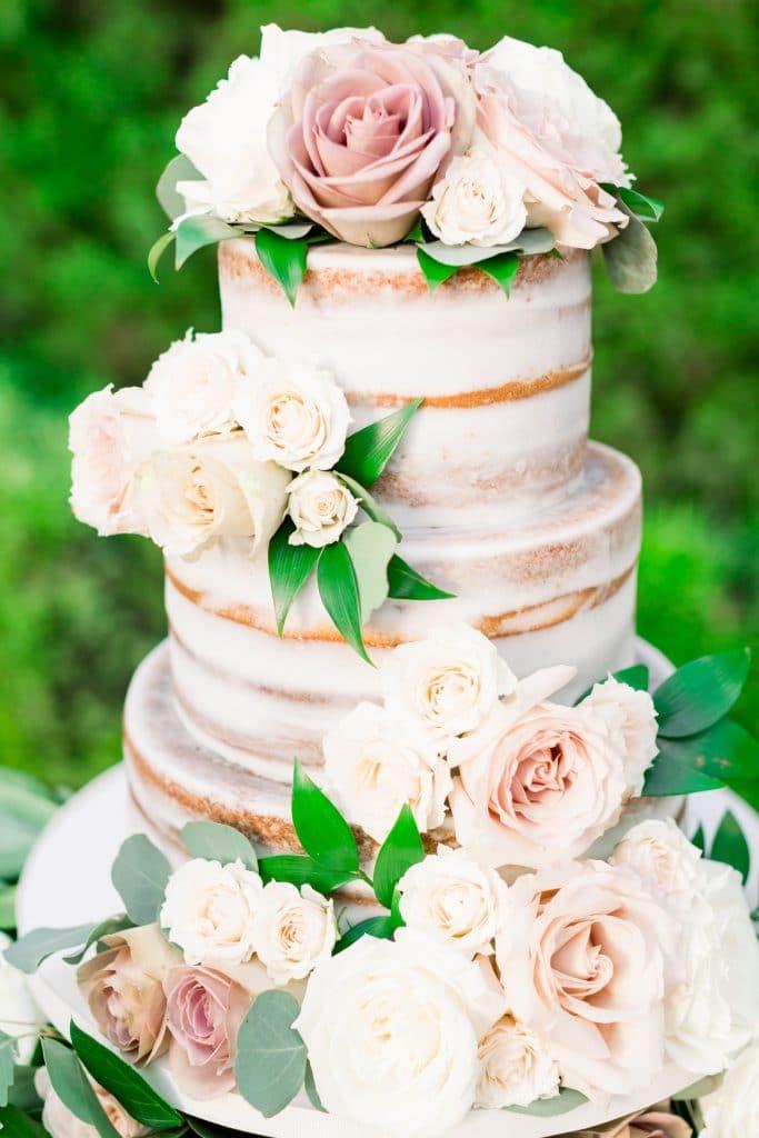 Sugar Sugar Cake Boutique - rustic semi-naked cake