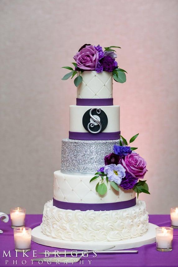 Sugar Sugar Cake Boutique - stunning purple wedding cake