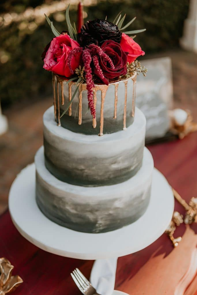 Sugar Sugar Cake Boutique - ombre watercolor effect on tiered cake