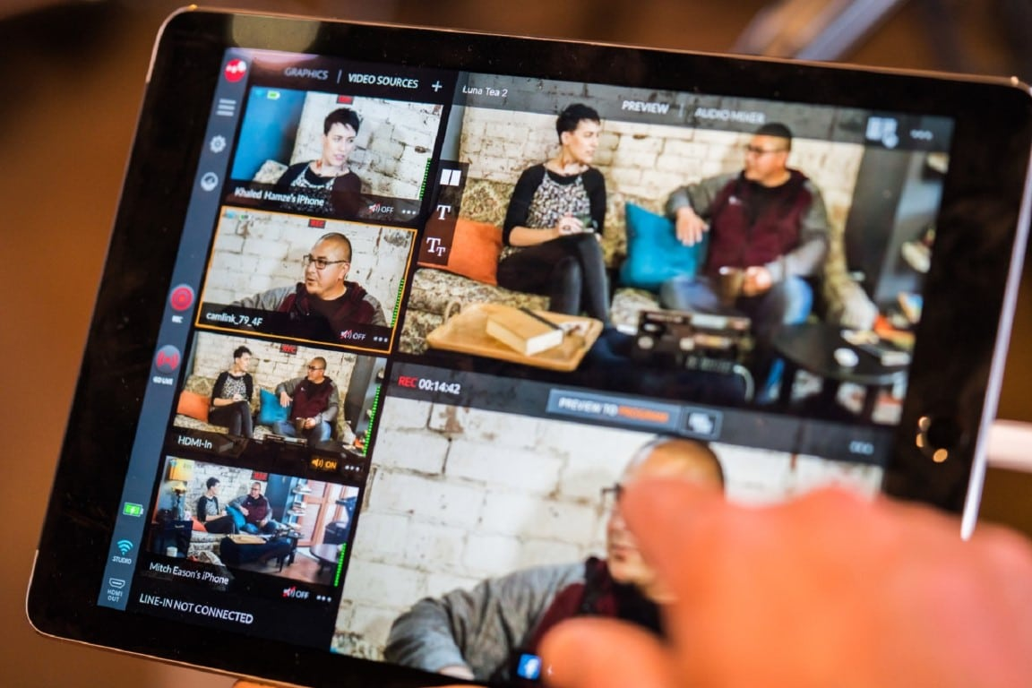 Live-Hub-Events-Multiple video clips on tablet