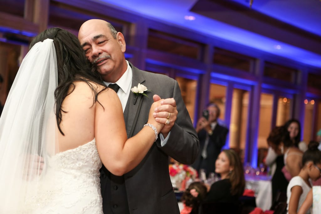 White Rose Entertainment-Live Happy Studio-Bride dancing at reception with father