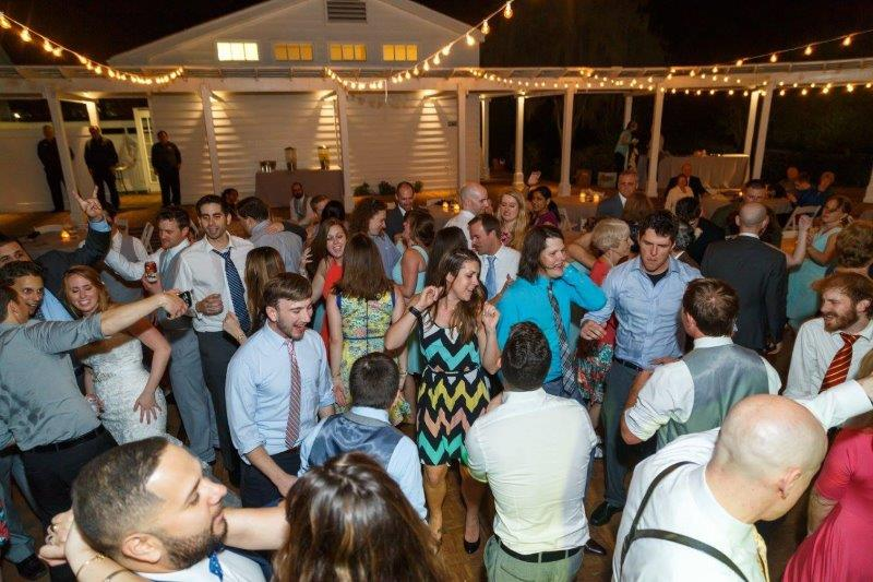 great wedding DJ - dance floor filled with guest dancing outside