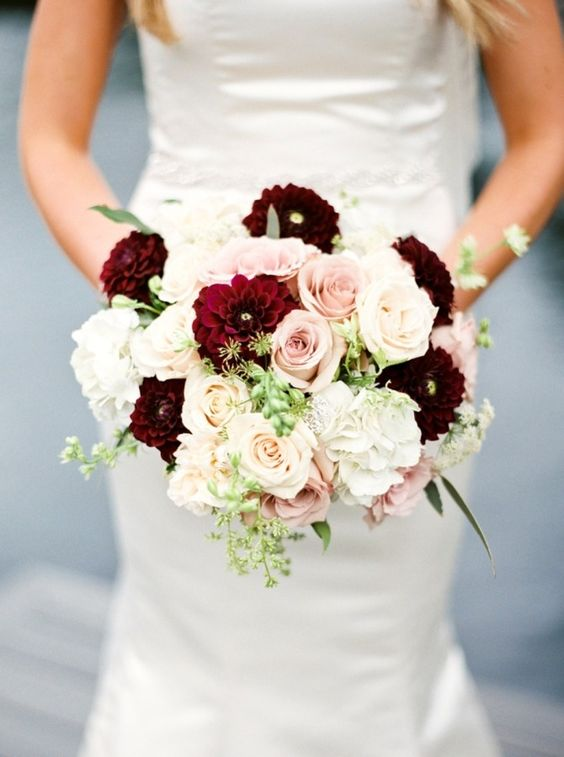 Lee Forrest Design - white, red & pink bridal bouquet