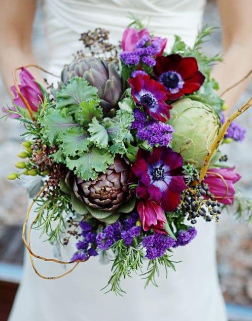 Lee Forrest Design - close up of colorful bride bouquet