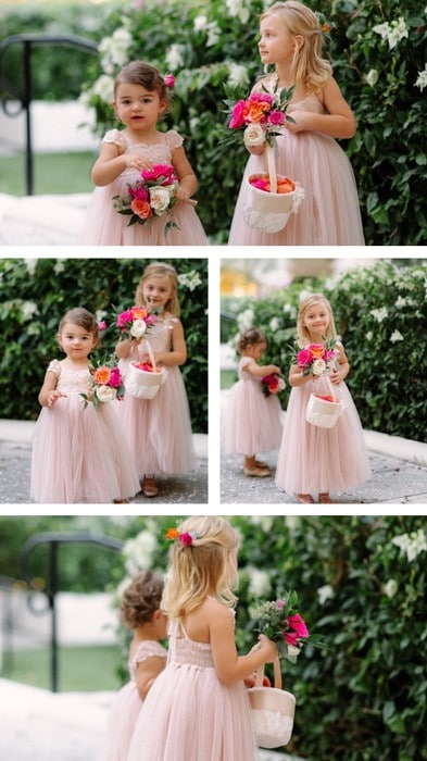 Lee Forrest Design - collage of flower girls